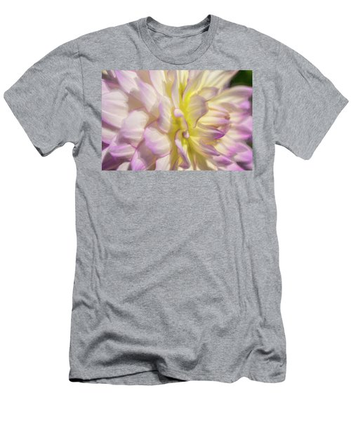 Dahlia Study 5 Painterly  Men's T-Shirt (Athletic Fit)