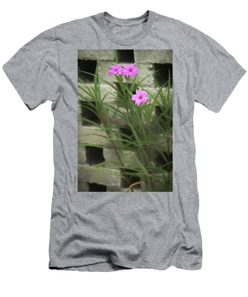 Men's T-Shirt (Athletic Fit) featuring the photograph Dainty Pink by Penny Lisowski