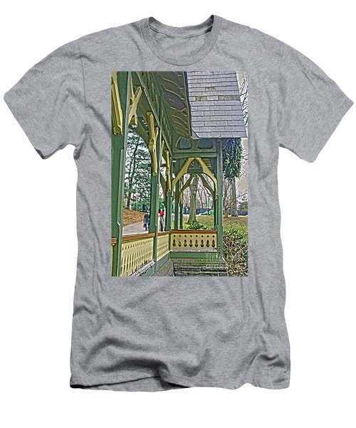 Men's T-Shirt (Slim Fit) featuring the photograph Dairy Cottage Porch by Sandy Moulder