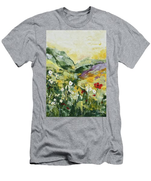 Daisies And Poppies Men's T-Shirt (Athletic Fit)