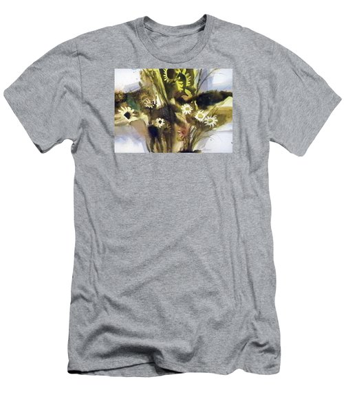 Men's T-Shirt (Slim Fit) featuring the painting Daisies by Ed Heaton