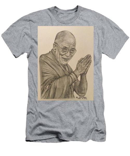 Dalai Lama Tenzin Gyatso Men's T-Shirt (Slim Fit) by Kent Chua