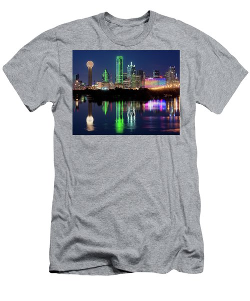 Dallas Skyline Reflection 91317 Men's T-Shirt (Athletic Fit)
