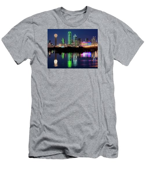 Dallas Skyline Reflection 91317 Men's T-Shirt (Athletic Fit)