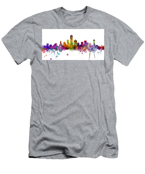 Dallas Texas Skyline Panoramic Men's T-Shirt (Athletic Fit)