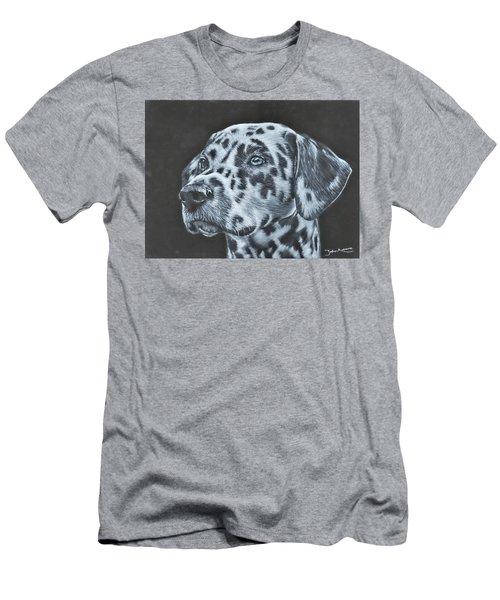 Dalmation Portrait Men's T-Shirt (Athletic Fit)