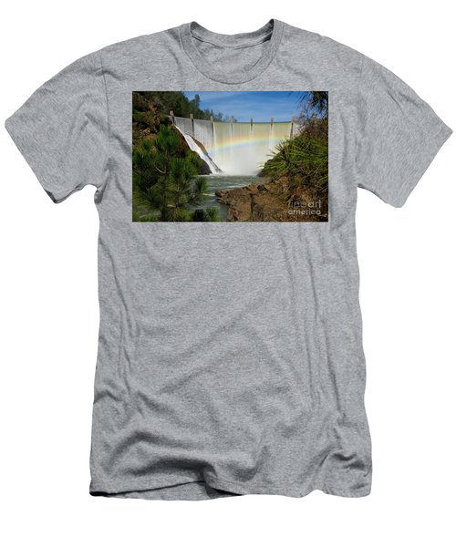 Men's T-Shirt (Slim Fit) featuring the photograph Dam Rainbow by Patrick Witz