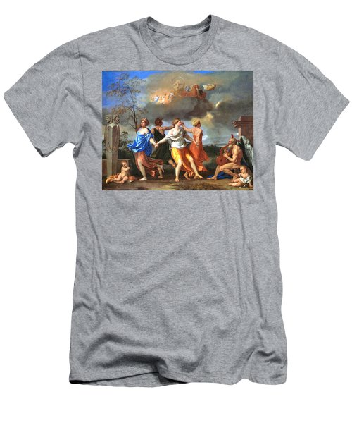 Dance To The Music Of Time  Men's T-Shirt (Slim Fit) by Nicolas Poussin