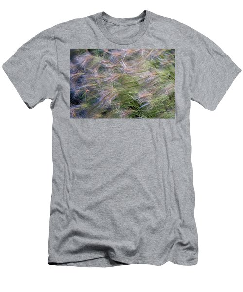 Dancing Foxtail Grass Men's T-Shirt (Athletic Fit)