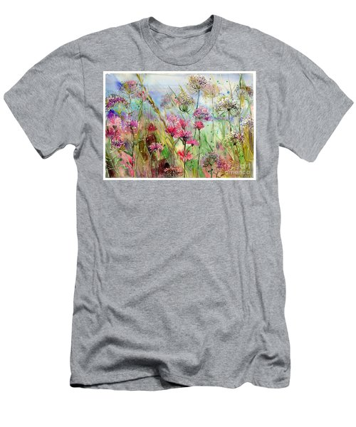 Dancing Thistles Men's T-Shirt (Athletic Fit)
