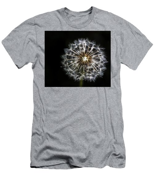 Men's T-Shirt (Slim Fit) featuring the photograph Dandelion Seed by Darcy Michaelchuk