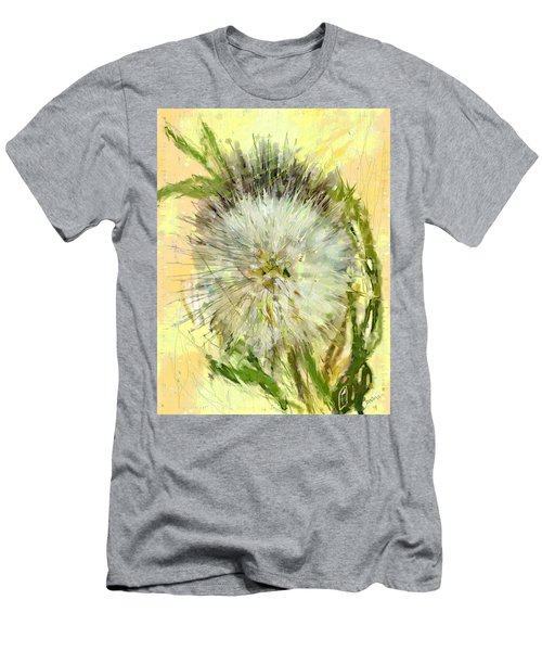 Men's T-Shirt (Slim Fit) featuring the drawing Dandelion Sunshower by Desline Vitto