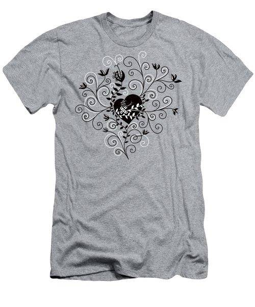 Dark Abstract Fixed Broken Heart Men's T-Shirt (Athletic Fit)