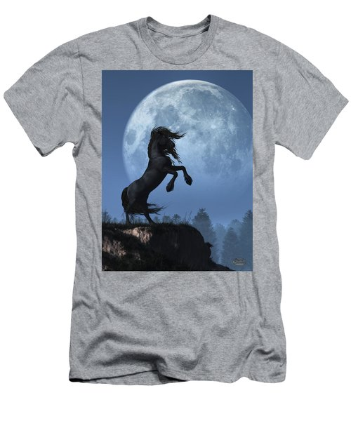 Dark Horse And Full Moon Men's T-Shirt (Athletic Fit)