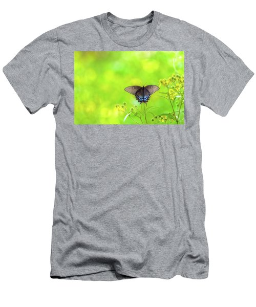 Men's T-Shirt (Athletic Fit) featuring the photograph Dark Morph Female Tiger Swallowtail Butterfly by Lori Coleman