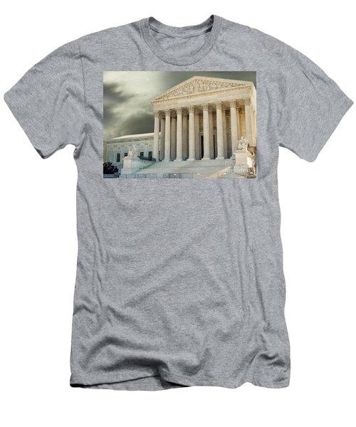 Dark Skies Above Supreme Court Of Justice Men's T-Shirt (Slim Fit) by Patricia Hofmeester