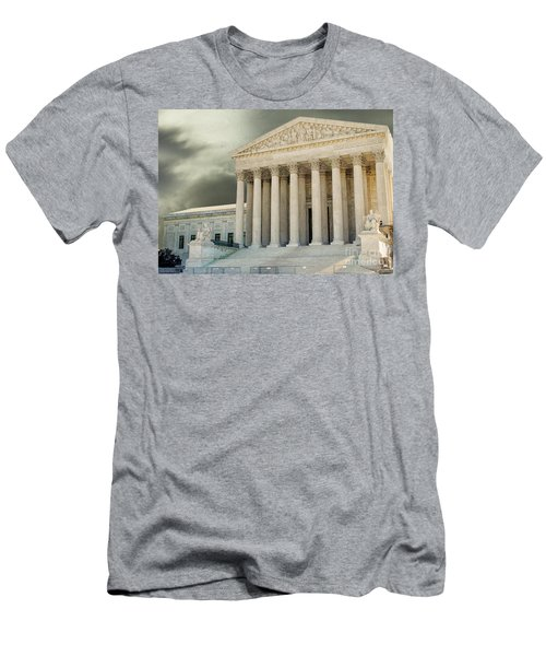 Dark Skies Above Supreme Court Of Justice Men's T-Shirt (Athletic Fit)