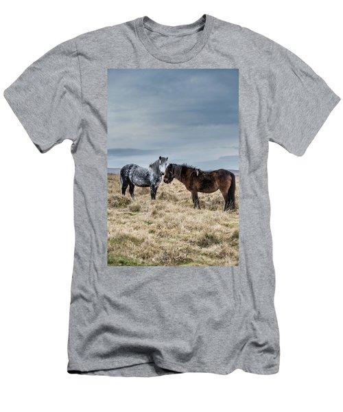 Dartmoor Ponies On Dartmoor Men's T-Shirt (Athletic Fit)