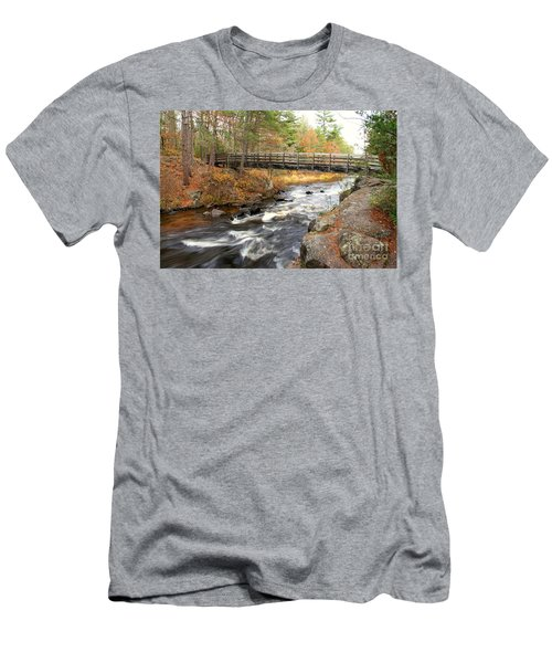 Men's T-Shirt (Slim Fit) featuring the photograph Dave's Falls #7480 by Mark J Seefeldt