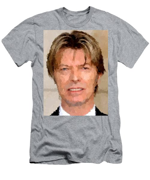 David Bowie Portrait Men's T-Shirt (Athletic Fit)