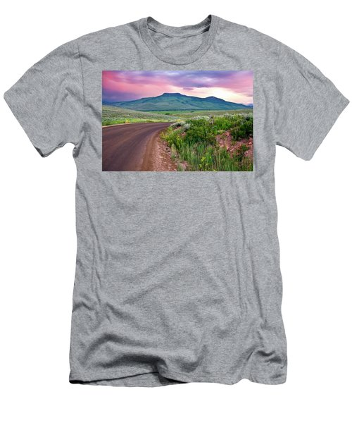 Dawn At Flattop Mountain Men's T-Shirt (Athletic Fit)