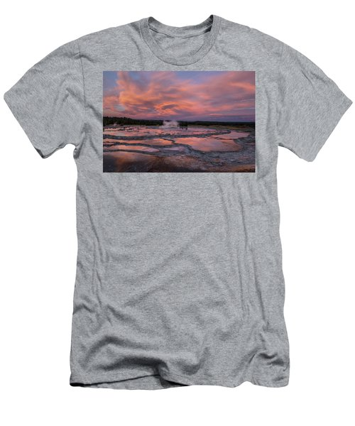 Dawn At Great Fountain Geyser Men's T-Shirt (Athletic Fit)
