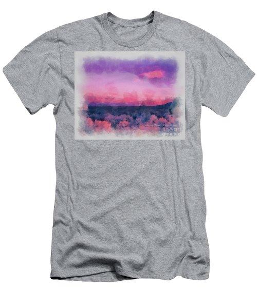 Dawn In Taos In Aquarelle Men's T-Shirt (Athletic Fit)