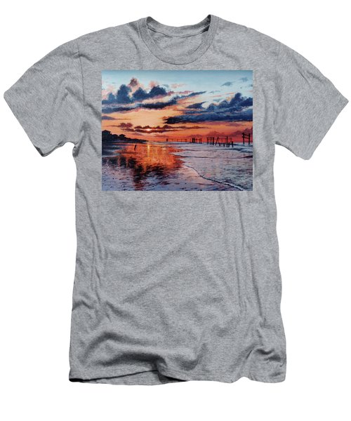 Dawn On Crystal Beach Men's T-Shirt (Athletic Fit)