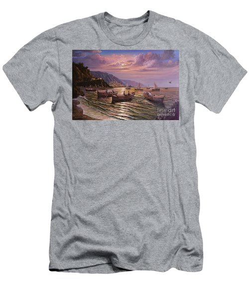Day Ends On The Amalfi Coast Men's T-Shirt (Athletic Fit)