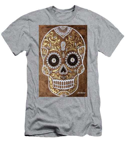 Men's T-Shirt (Slim Fit) featuring the painting Day Of Death by J- J- Espinoza