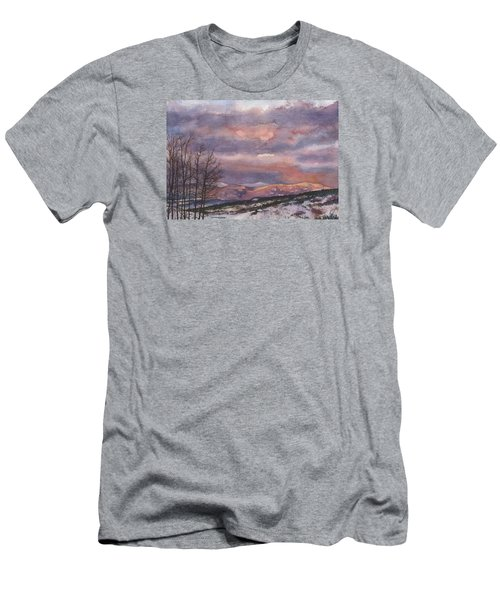 Men's T-Shirt (Slim Fit) featuring the painting Daylight's Last Blush by Anne Gifford