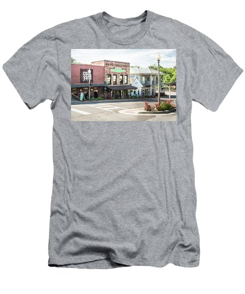 Men's T-Shirt (Slim Fit) featuring the photograph Daytime In Old Town Helena by Parker Cunningham