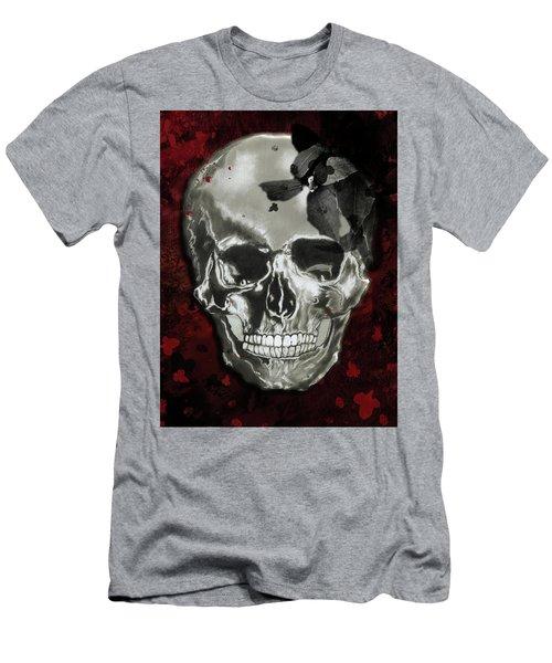 Dead Fancy Skull Men's T-Shirt (Athletic Fit)