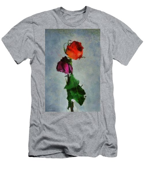 Men's T-Shirt (Slim Fit) featuring the digital art Dead Roses by Francesa Miller