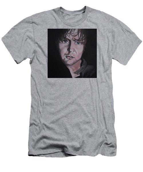 Men's T-Shirt (Slim Fit) featuring the painting Dean Ambrose Portrait by Susan Solak