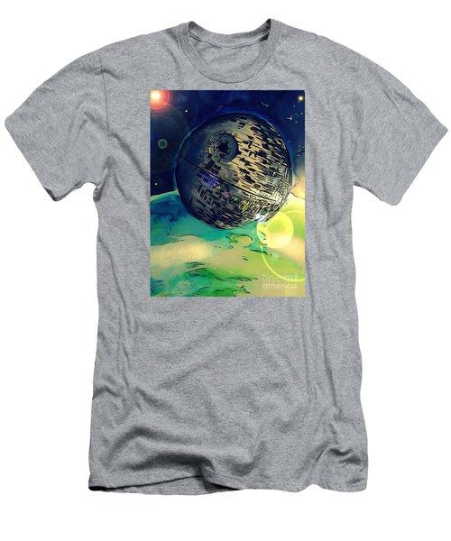 Death Star Illustration  Men's T-Shirt (Slim Fit) by Justin Moore