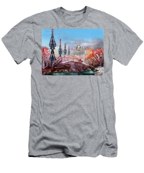 Decalcomaniac Transmission Towers Men's T-Shirt (Athletic Fit)