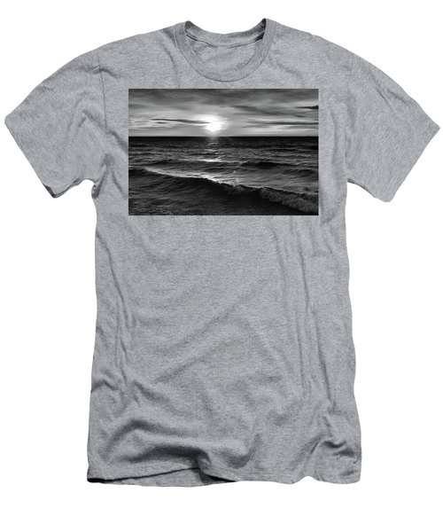 December 20-2016 Sunrise At Oro Station Bw  Men's T-Shirt (Slim Fit) by Lyle Crump