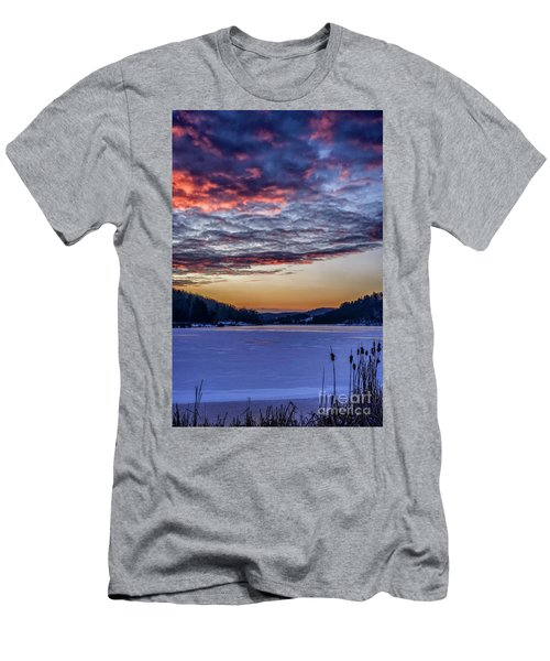 December Dawn On The Lake Men's T-Shirt (Athletic Fit)