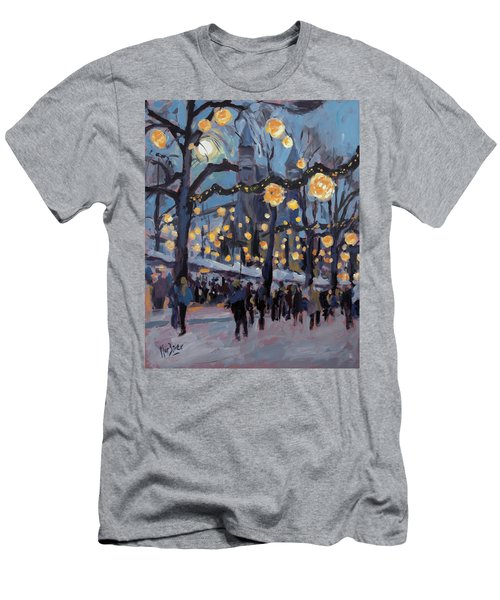 December Lights At The Our Lady Square Maastricht 1 Men's T-Shirt (Slim Fit) by Nop Briex