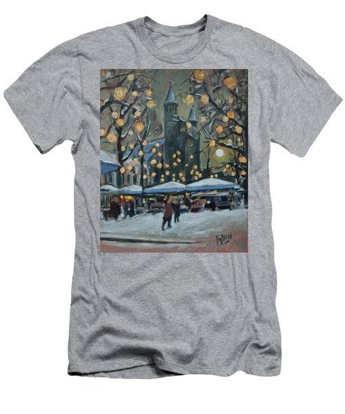 December Lights At The Our Lady Square Maastricht 2 Men's T-Shirt (Slim Fit) by Nop Briex