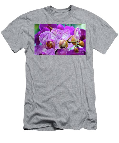 Decorative Fuschia Orchid Still Life Men's T-Shirt (Athletic Fit)