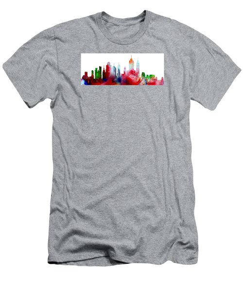 Decorative Skyline Abstract New York P1015c Men's T-Shirt (Athletic Fit)