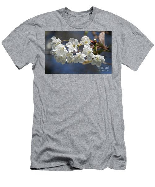 Deep Blue  Cherry Blossom Men's T-Shirt (Athletic Fit)