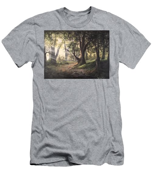 Deep Forest Rays  Men's T-Shirt (Athletic Fit)