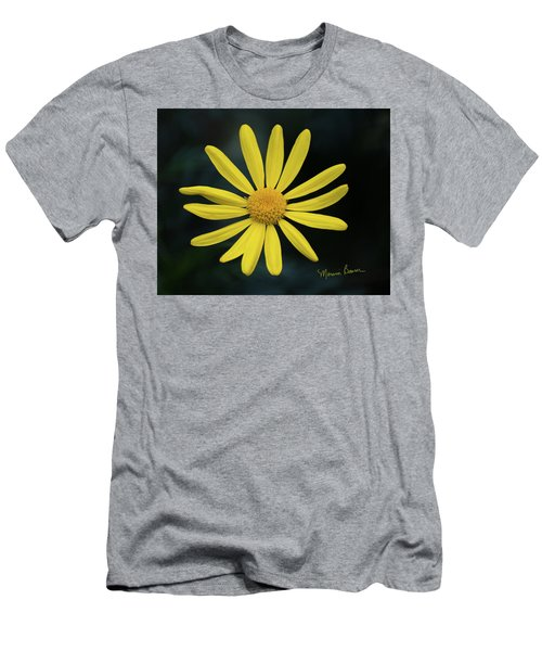 Deep Yellow Flower Men's T-Shirt (Athletic Fit)