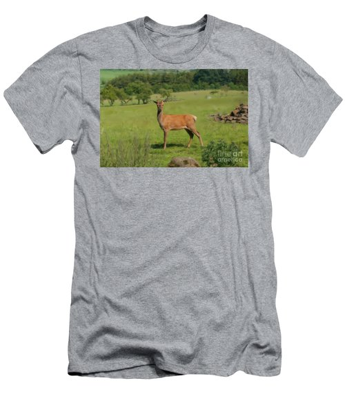 Deer Calf. Men's T-Shirt (Athletic Fit)