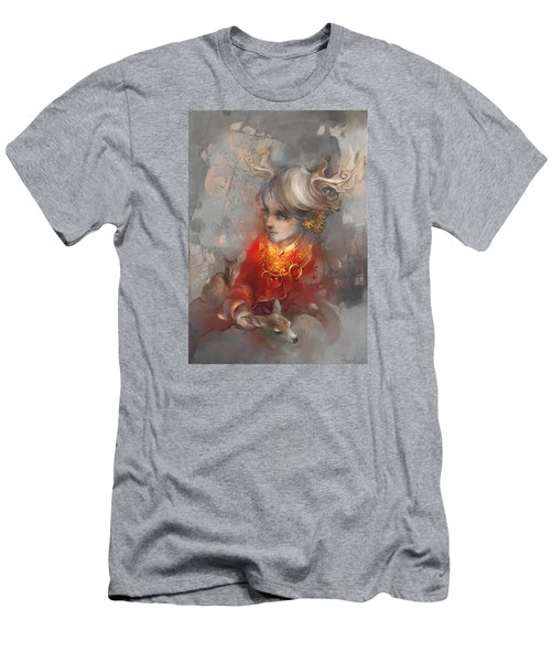 Deer Princess Men's T-Shirt (Slim Fit) by Te Hu