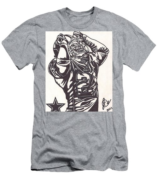 Men's T-Shirt (Slim Fit) featuring the drawing Deion Sanders by Jeremiah Colley