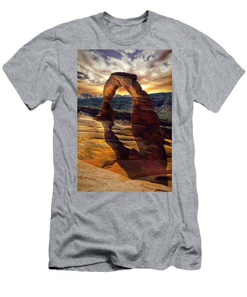 Delicate Arch Men's T-Shirt (Slim Fit) by James Bethanis